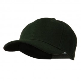 Low Profile Structured Heavy Brushed Cotton Cap - Dark Green