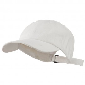 Heavy Brushed Cotton Twill Cap - White