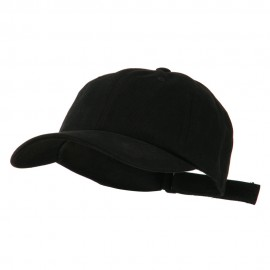 Heavy Brushed Cotton Twill Cap - Black