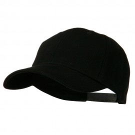Low Profile Structured Heavy Brushed Cotton Cap - Black