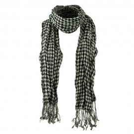 Crushed Houndstooth Checker Scarf