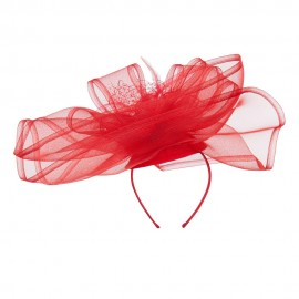 Horsehair Flower Headband Fascinator