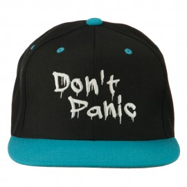 Halloween Don't Panic Embroidered Snapback Cap