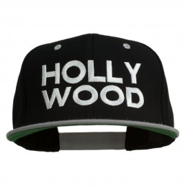 Hollywood Embroidered Two Tone Snapback Cap