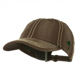 Heavy Washed Cap with Thick Stitch