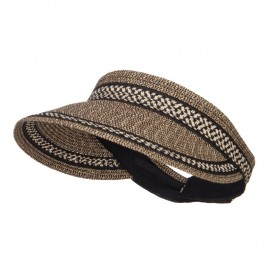 UPF 50+ Herringbone Braid Rollable Visor
