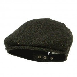 Men's Herringbone Wool Blend Ivy Cap