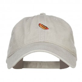 Mini Hot Dog Embroidered Washed Cap