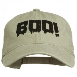 Halloween Boo Sign Embroidered Washed Cap
