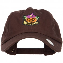 Halloween with Pumpkin Patched Unstructured Cap