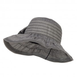 Women's Ribbon Accent Crushable Hat