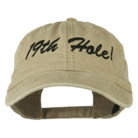Golf 19th Hole Embroidered Washed Cap