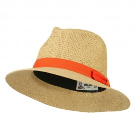 Panama Hat With Color Band