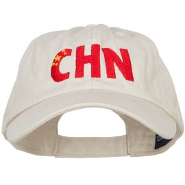 China CHN Flag Embroidered Low Profile Cap