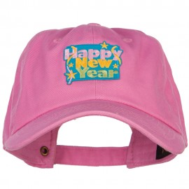 Happy New Year Patched Unstructured Cap