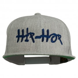 Hip Hop Music Embroidered Snapback Flat Bill Cap