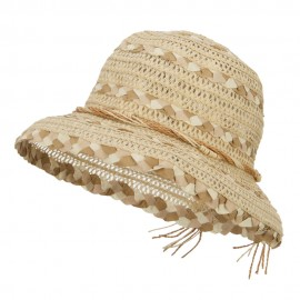 Vented Straw Braid Bucket Hat