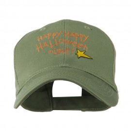 Happy Happy Halloween Night Star Embroidered Cap