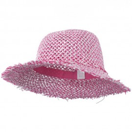 Girl's Toyo Hat with Criss Cross Open Weave Design