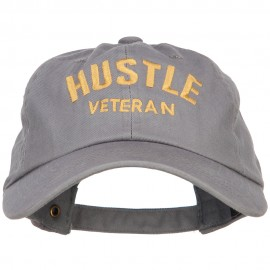 Hustle Veteran Embroidered Washed Cap