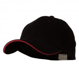 Heavy Weight Fitted Cap - Black Red