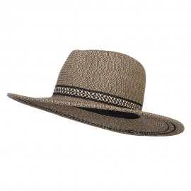 UPF 50+ Fedora Crown Herringbone Braid Hat