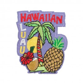 Hawaiian Luau Party Patches