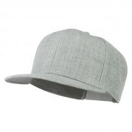 Heather Wool Blend Flat Bill Snapback Two Tone Cap