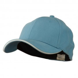 Heavy Weight Fitted Cap - Lt Blue White