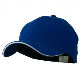 Heavy Weight Fitted Cap - Royal White
