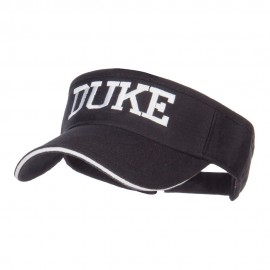 Halloween Duke Embroidered Sandwich Visor - Black White