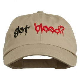 Halloween Got Blood Embroidered Low Profile Washed Cap