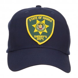 Hawaii State Sheriff Patched Cap - Navy