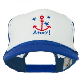 Anchor Stars Ahoy Embroidered Foam Mesh Back Cap