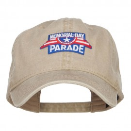 Memorial Day Parade Patched Washed Cap