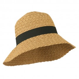 Women's UPF 50+ Wide Brim Braided Sun Hat