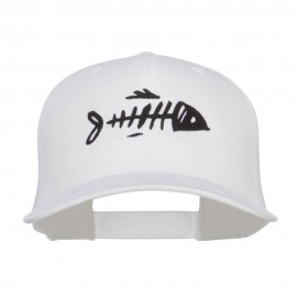 Fish Bone Embroidered Mesh Cap