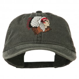 Southwest Indian Embroidered Washed Cap