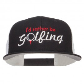 I'd Rather Be Golfing Embroidered Mesh Cap