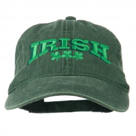 Irish Four Leaf Clover Embroidered Dyed Cap