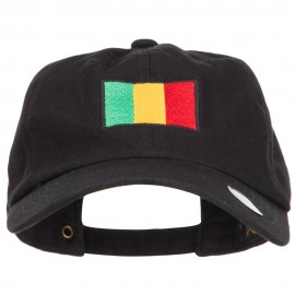 Mali Flag Embroidered Unstructured Cap