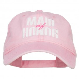 Maid of Honor Embroidered Washed Cap