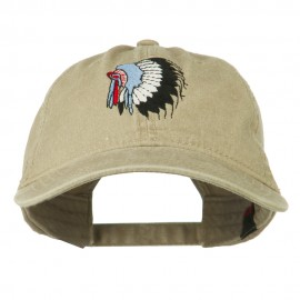 Indian Headdress Embroidered Washed Cap