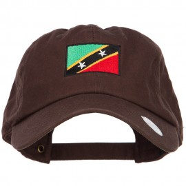 Saint Kitts Flag Embroidered Washed Cap