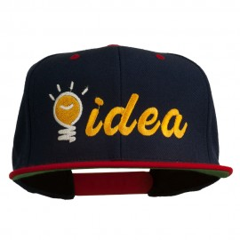 Light Bulb Idea Embroidered Snapback Cap