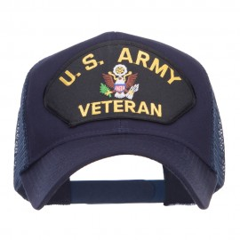 US Army Veteran Military Patched Mesh Cap