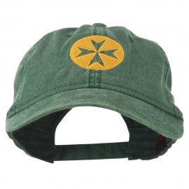 Circle Cross Design Embroidered Cap