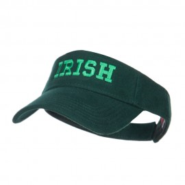 Irish Embroidered Cotton Knit Visor