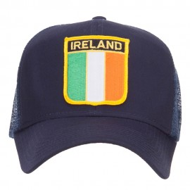 Ireland Flag Shield Patched Mesh Cap