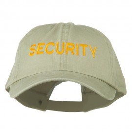 Security Letter Embroidered Big Size Washed Cap